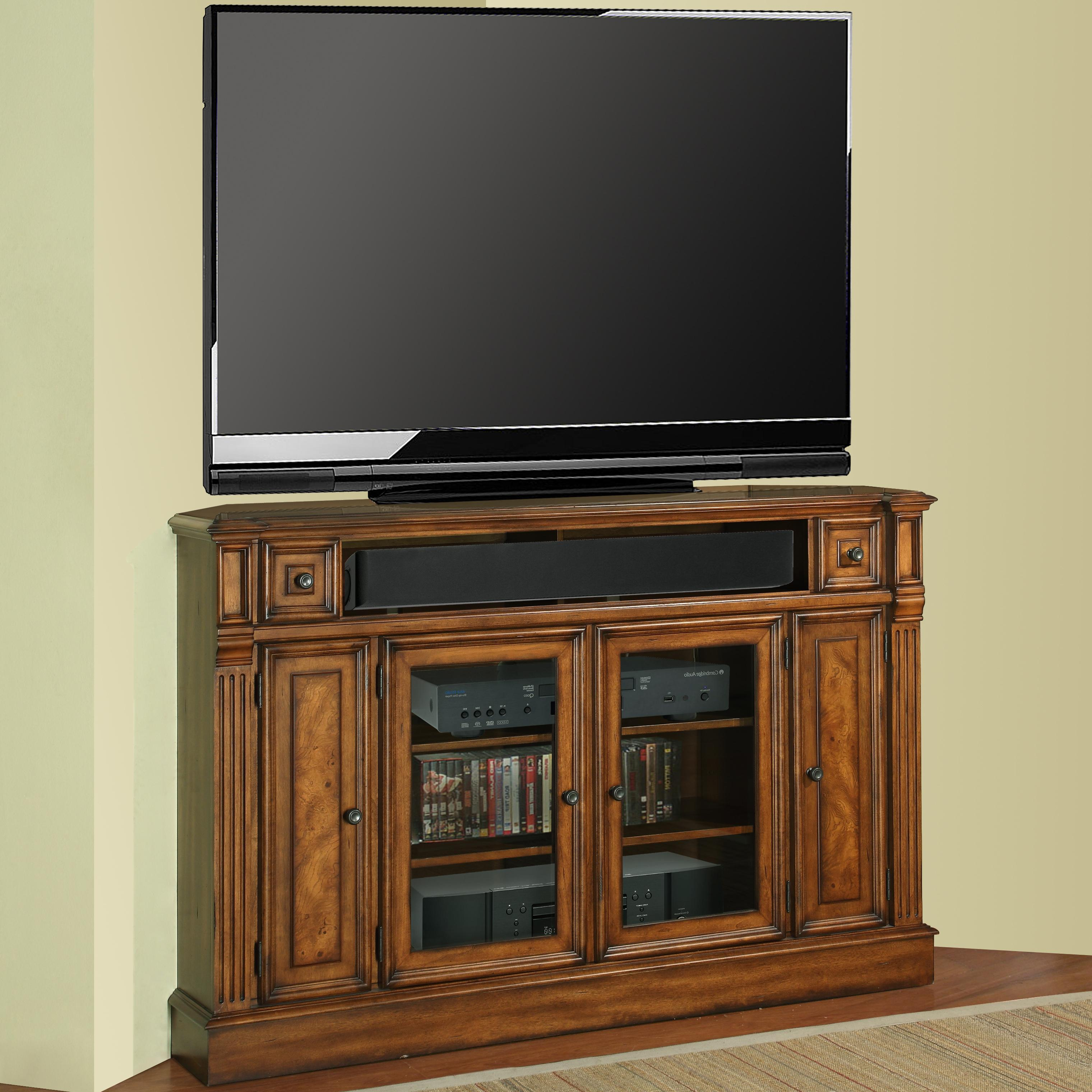 """Parker House Toscano 62"""" Corner TV Console with Storage - Item Number: TOS-62CR"""