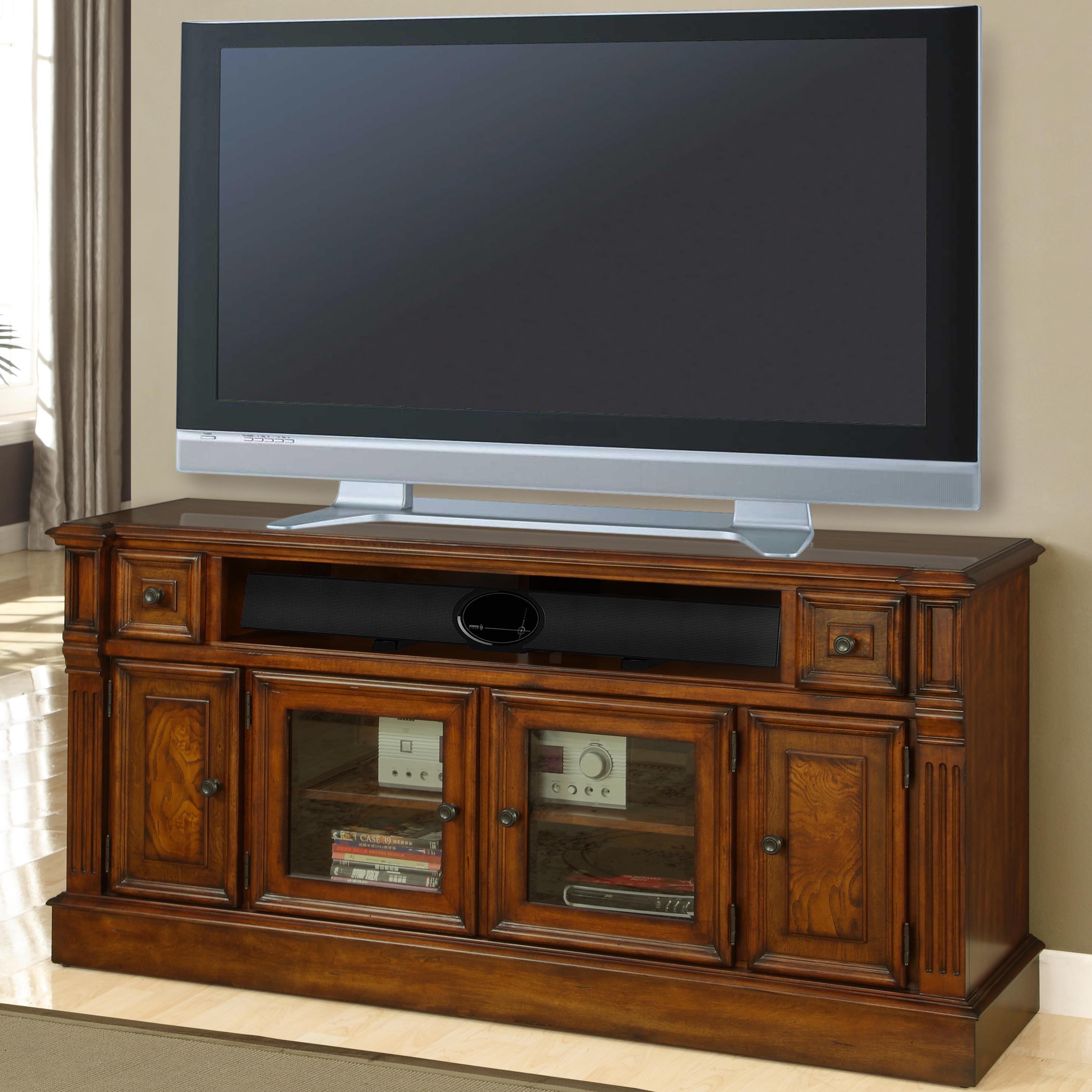 "Parker House Toscano 62"" (40""H) TV Console with Storage - Item Number: TOS-62TL"