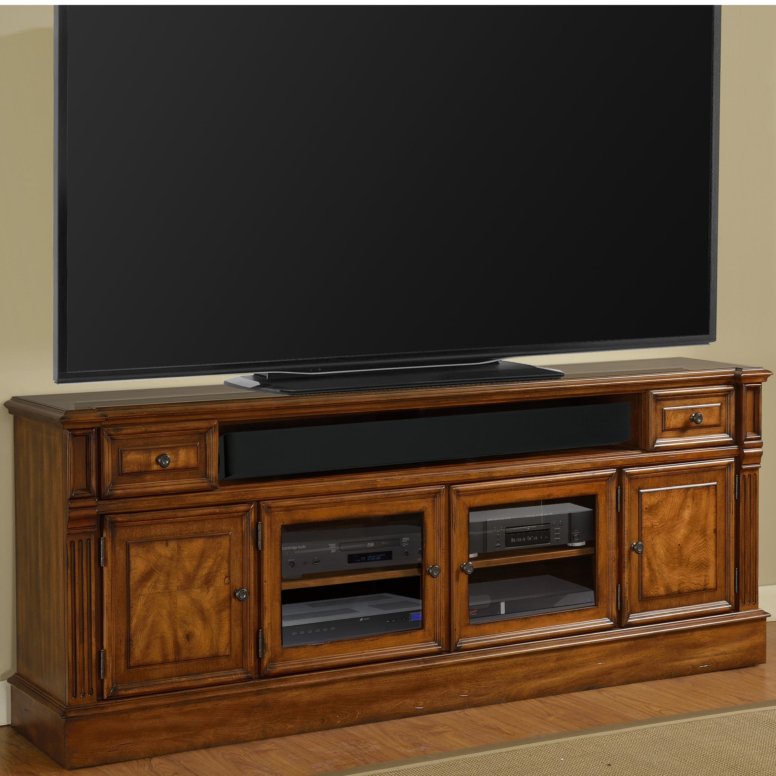 "Parker House Toscano 84"" TV Console with Storage - Item Number: TOS-84"