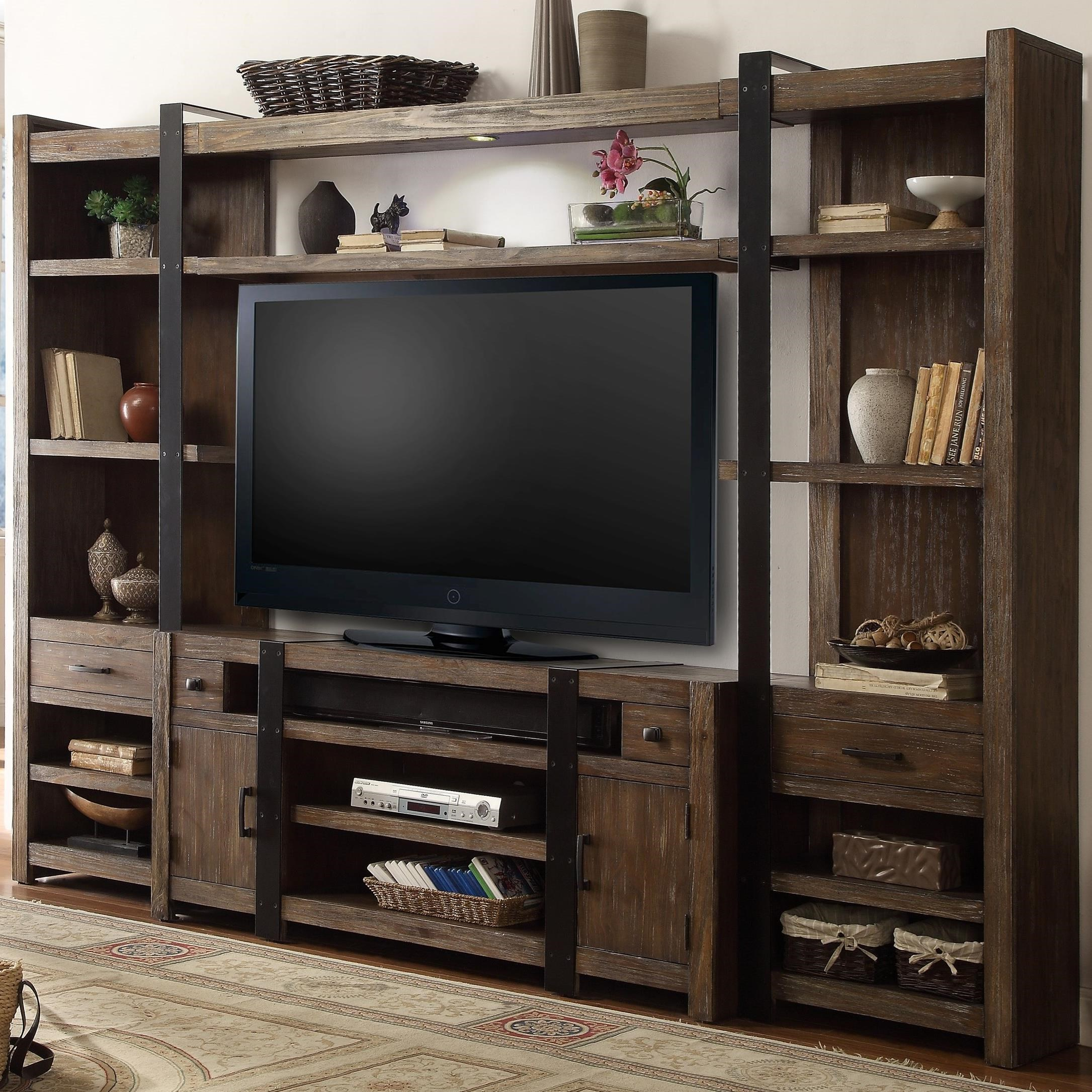 Parker Scott Tulia 4 Piece Entertainment Wall with LED Lighting