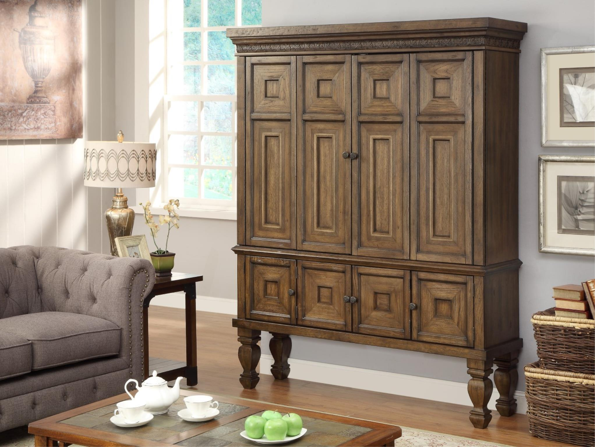 Morris Home Furnishings Valona - Valona 2-Piece Entertainment Armoire - Item Number: 256255007