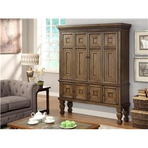 Morris Home Furnishings Valona - Valona 2-Piece Entertainment Armoire
