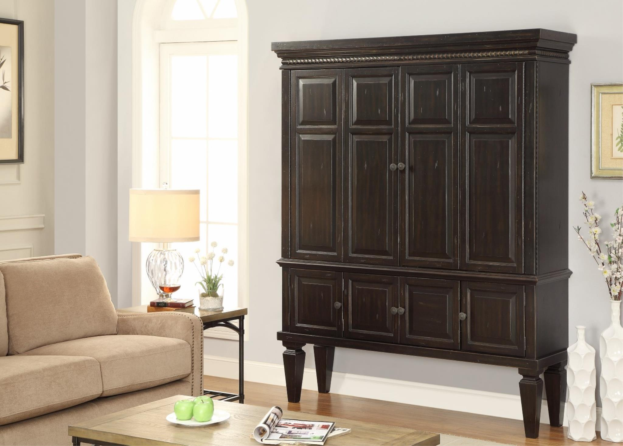 Morris Home Furnishings Valona Valona 2-Piece Entertainment Armoire - Item Number: 256294491