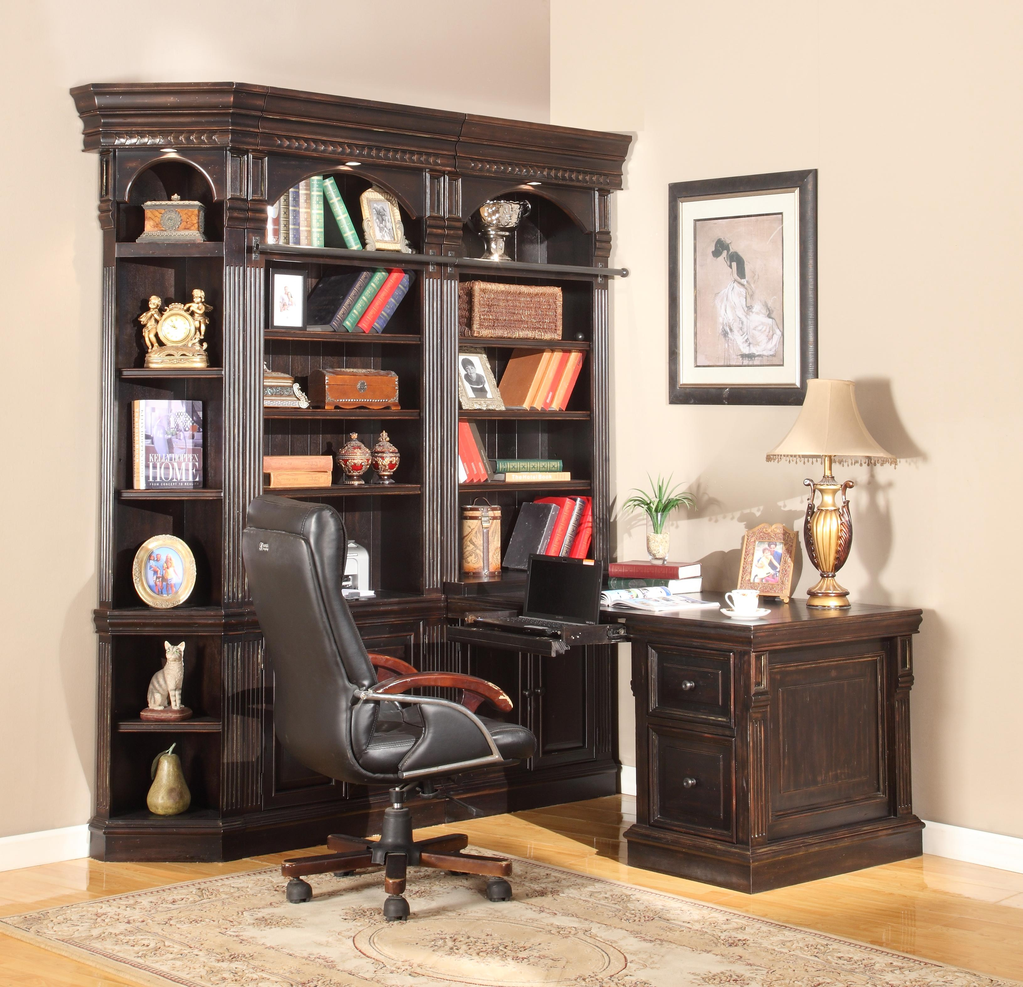 Parker House Venezia Four-Piece Corner Office - Item Number: VEN 450+2x430+490-2
