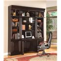Parker House Venezia 2-Piece Library Desk and Hutch Set - Shown with Two 22-Inch Bookcases