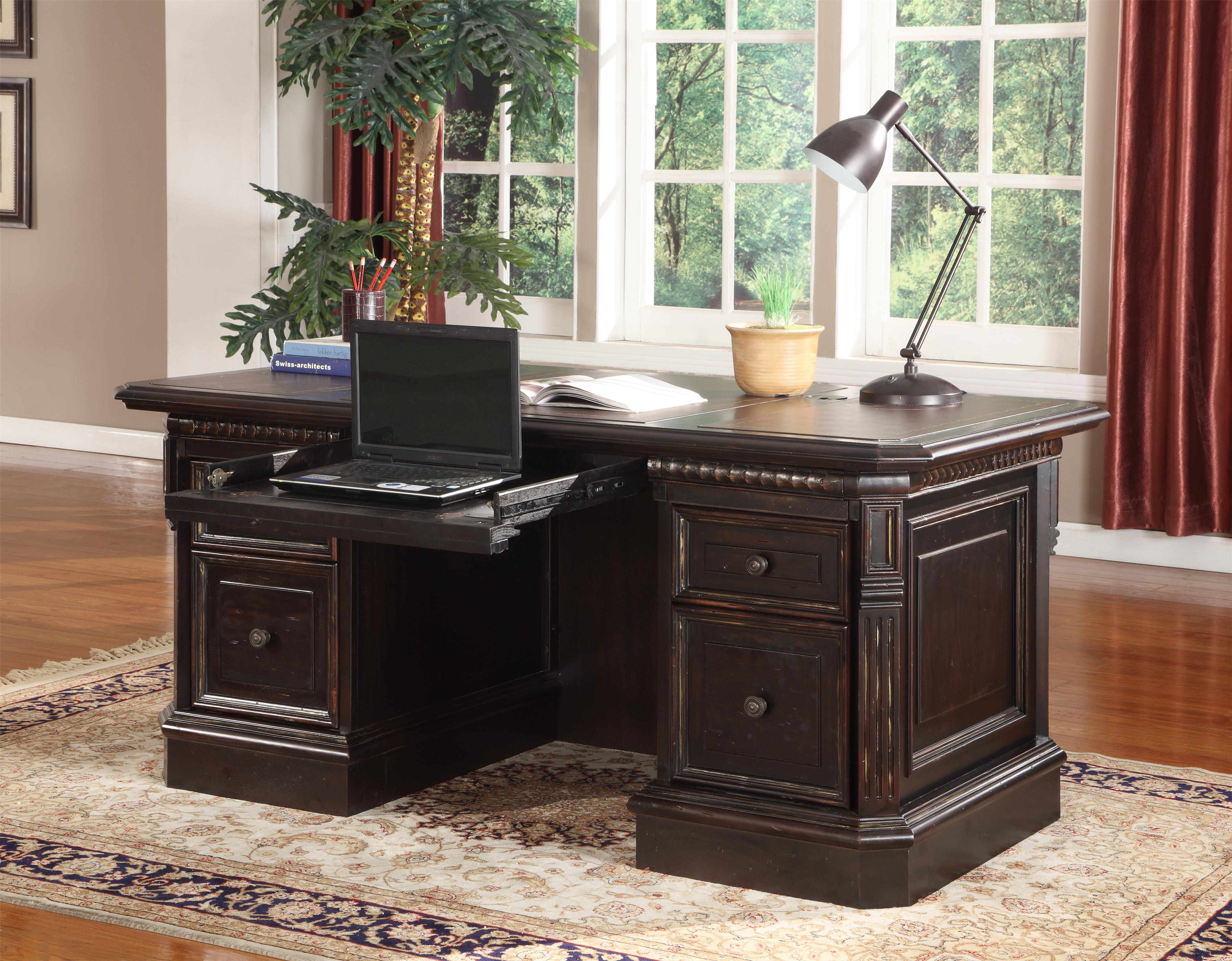 Parker House Venezia Double Pedestal Executive Desk - Item Number: VEN 480-3