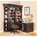 Parker House Venezia Peninsula Desk and File - VEN 490-2 - Shown with 32-Inch Bookcases and Outside Corner Unit