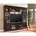 Parker House Venezia Library Ladder - Shown with 22-Inch Bookcases, TV Console and Bridge