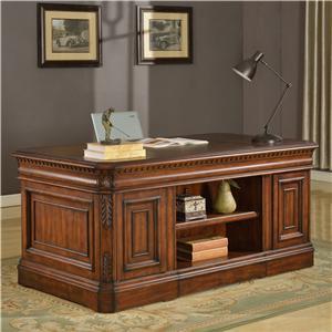Parker House Versailles Library Double Pedestal Executive Desk