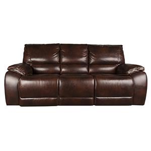Warwick Leather Match Power Sofa
