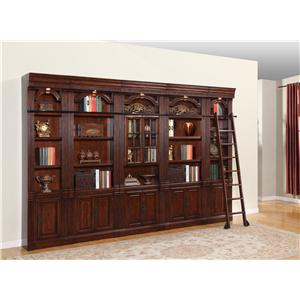 Parker House Wellington Bookcase Inset 6pc Wall