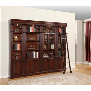 Parker House Wellington Bookcase Inset 4pc Wall