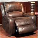 Parker Living Bacchus Traditional Lay Flat Power Recliner with Curved Track Arms