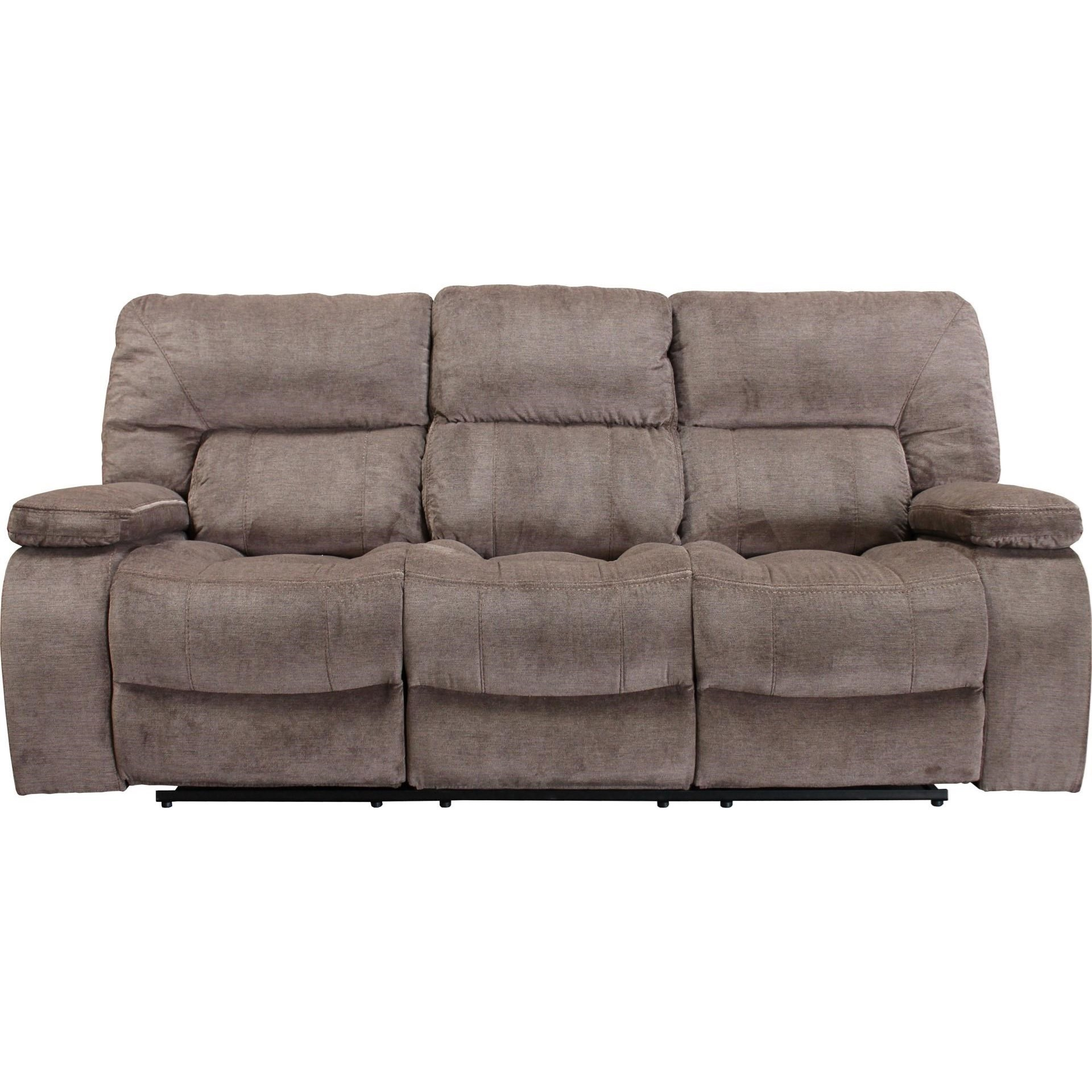 Theo Casual Triple Reclining Sofa With Pillow Arms
