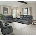 Parker Living Chapman Casual Triple Reclining Sofa with Pillow Arms