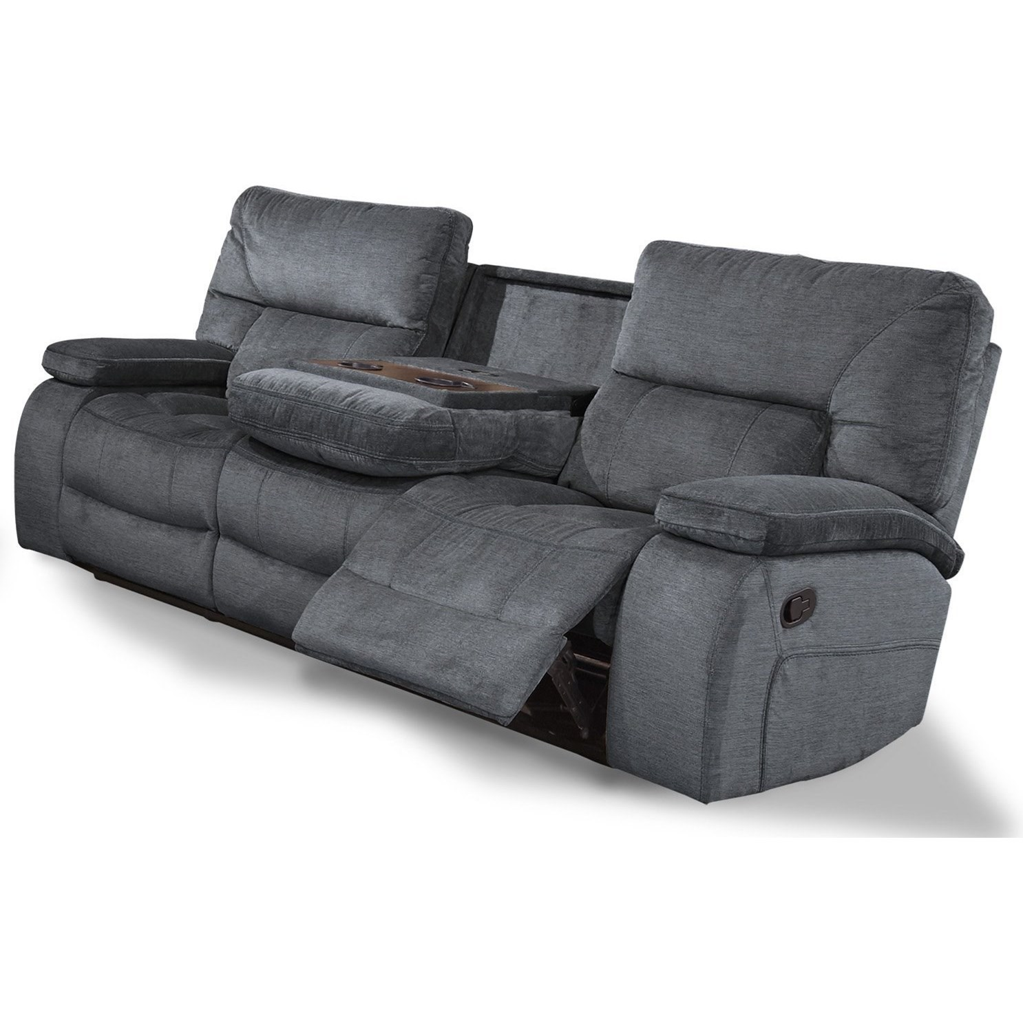 Dual Reclining Sofa with Drop Down Console