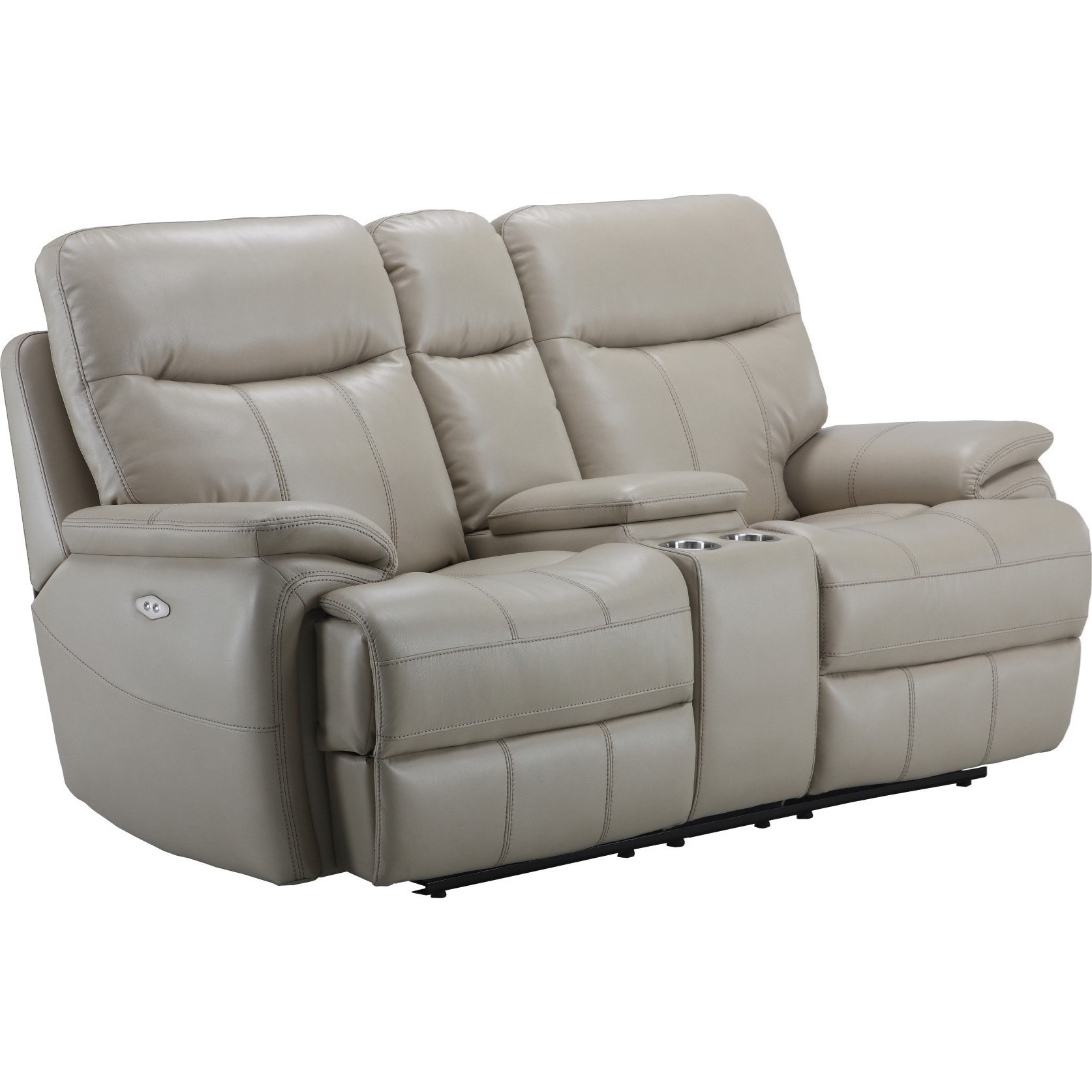 Parker Living Dylan Dual Recliner Power Console Loveseat With Cup
