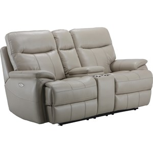 Dual Recliner Power Console Loveseat