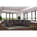 Parker Living Dylan Reclining Sectional Sofa - Item Number: MDYL-PACKM-MAH
