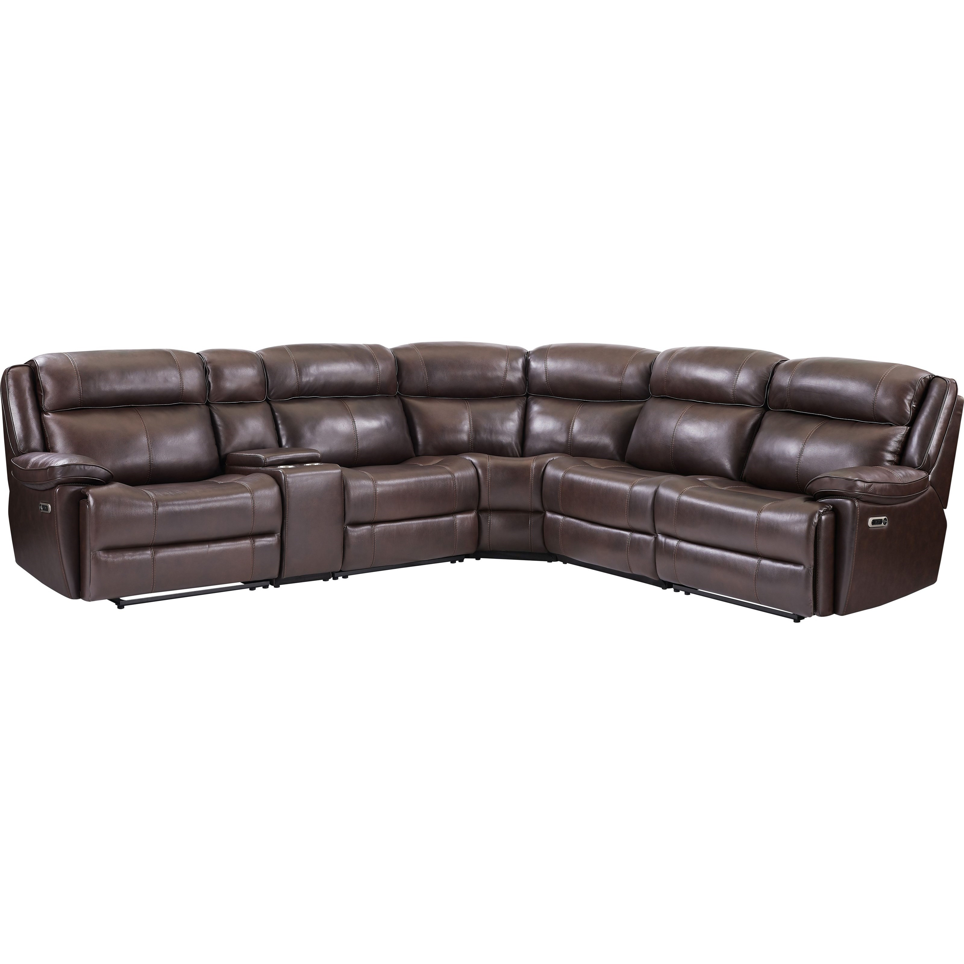 Eclipse Leather Match Power Reclining 5pc Sectional by Parker Living at Wilcox Furniture