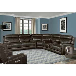 Parker Living Glacier Power Reclining Sectional Sofa