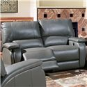 Parker Living Grisham Casual Power Recline Love Seat with Pad Over Arms