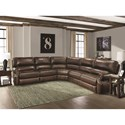 Parker Living Hawthorne Sectional Sofa - Item Number: MHAW-PACKB-BR
