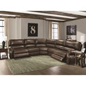 Parker Living Hawthorne Traditional Sectional Sofa with Nail Head Trim