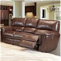 Parker Living Hitchcock Casual Duel Power Reclining Sofa with Pillow Top Arms