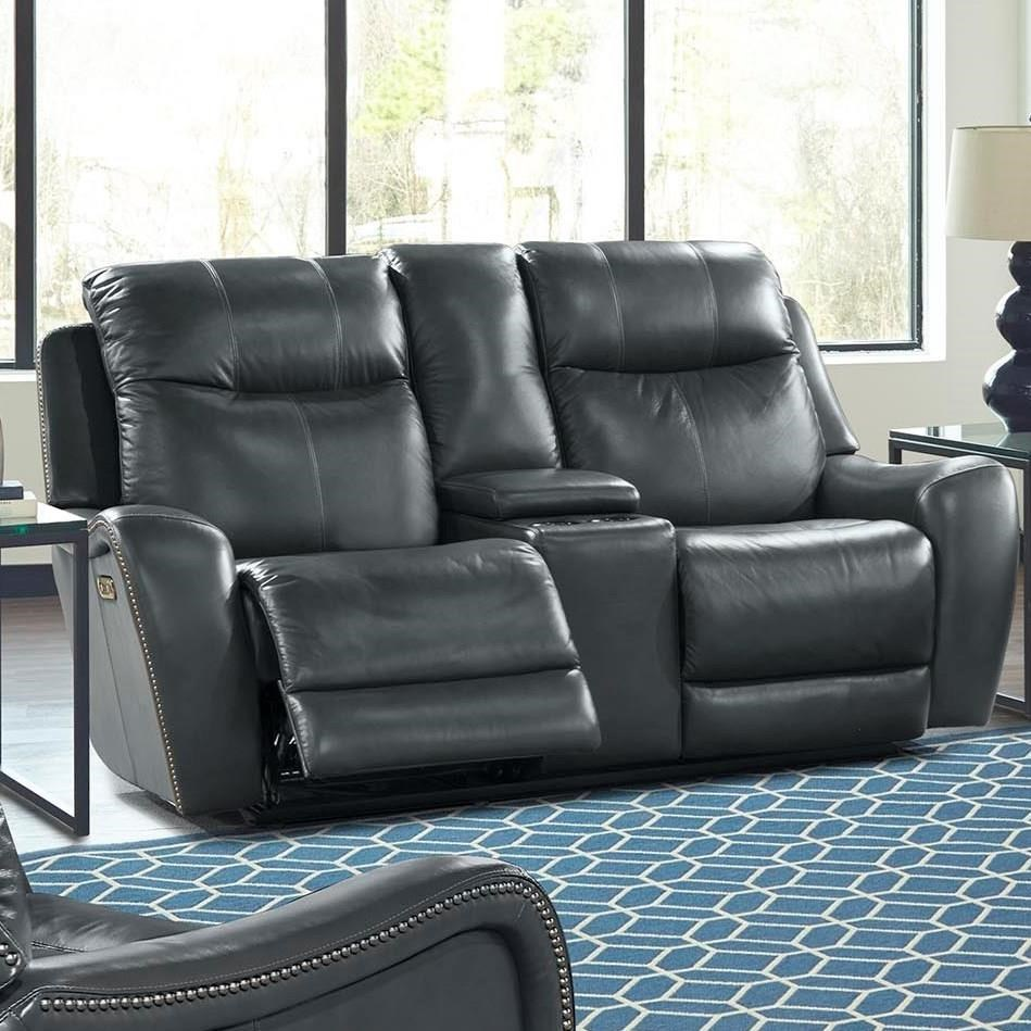 Parker Living Mammoth Mmam 822cph Den Casual Power Reclining Console Loveseat With Cup Holders