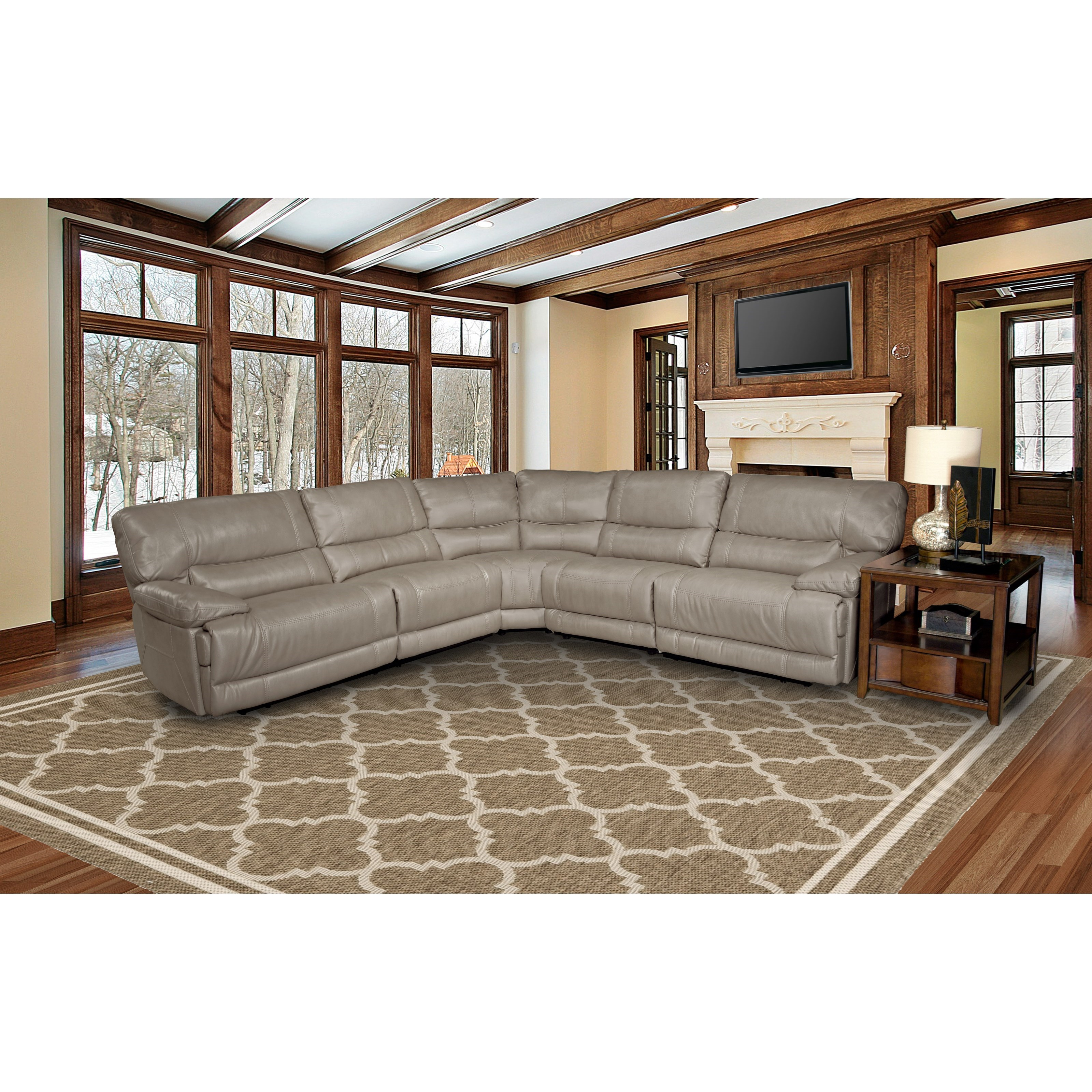 Parker Living Pegasus Power Reclining Sectional Sofa - Item Number: MPEG-PACKN-SAH