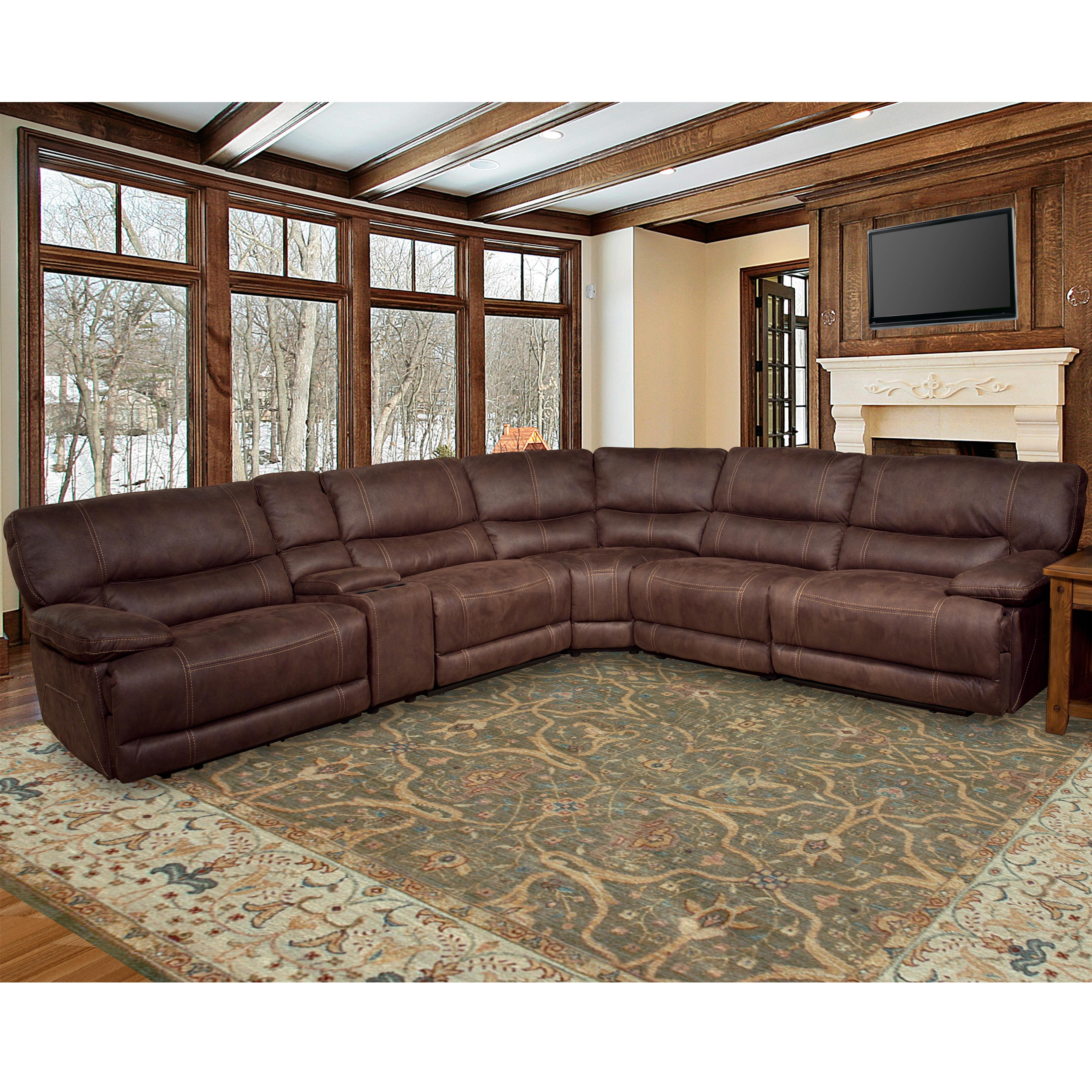 Parker Living Pegasus Power Reclining Sectional Sofa - Item Number: MPEG-PACKM-DK