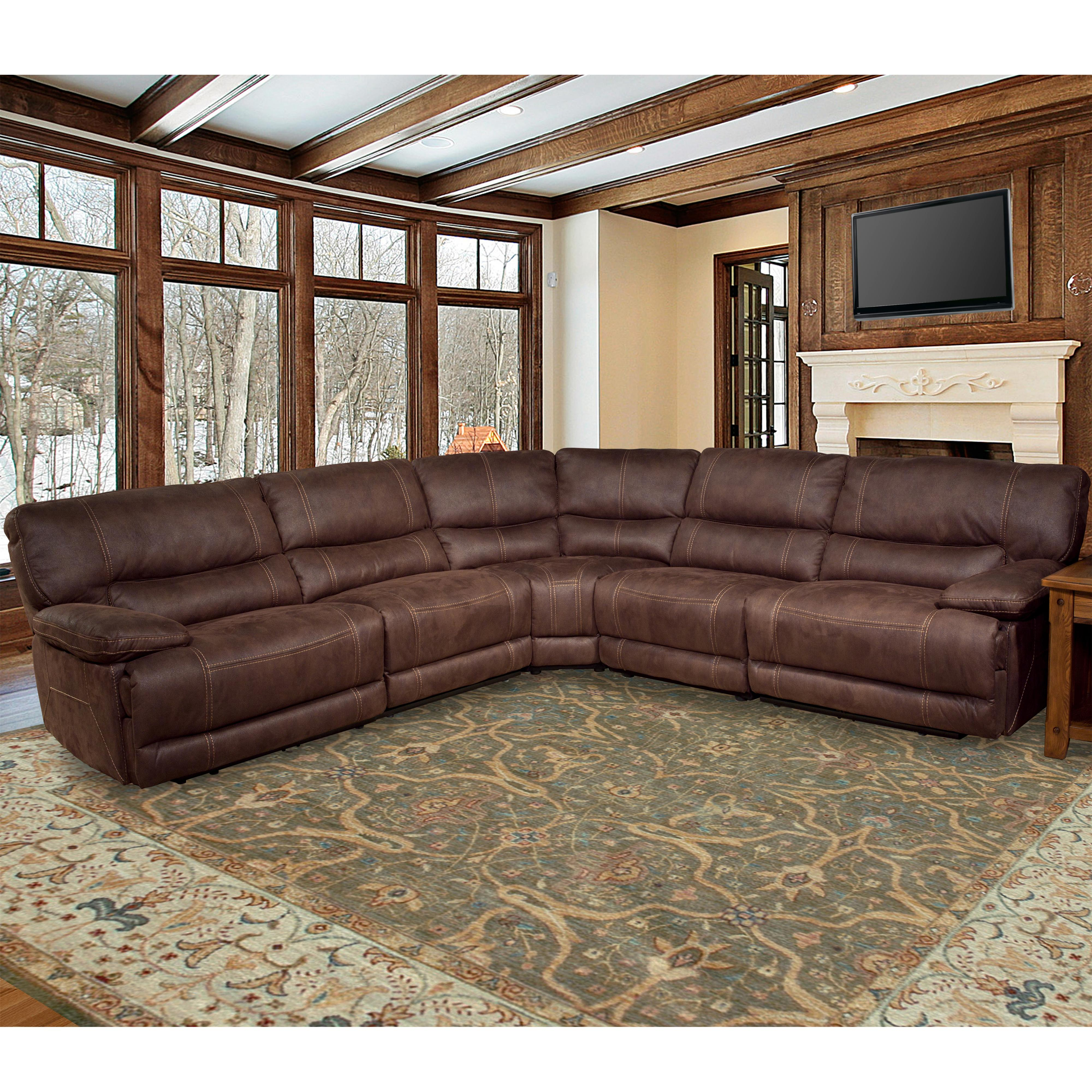 Parker Living Pegasus Power Reclining Sectional Sofa - Item Number: MPEG811LP+811RP+810+840+850-DK