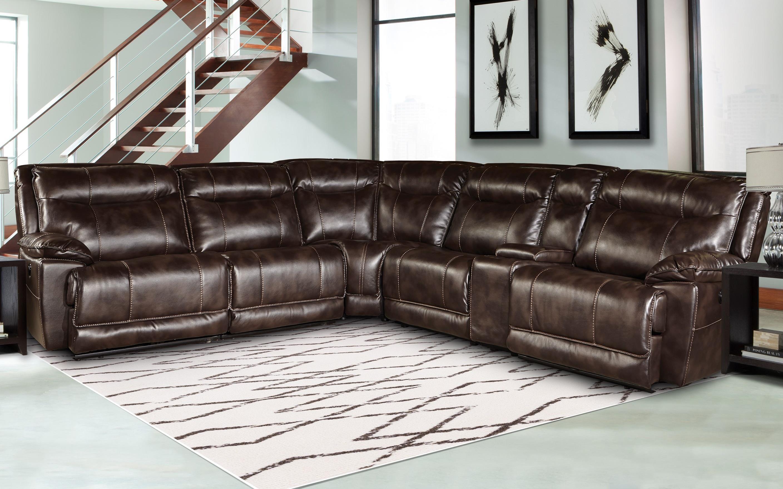 Parker Living Phoenix Reclining Sectional Sofa - Item Number: MPHO-811LP+2x40+50+60+11RP-TRU