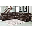 Parker Living Phoenix Casual Reclining Sectional Sofa with Power and Storage Console