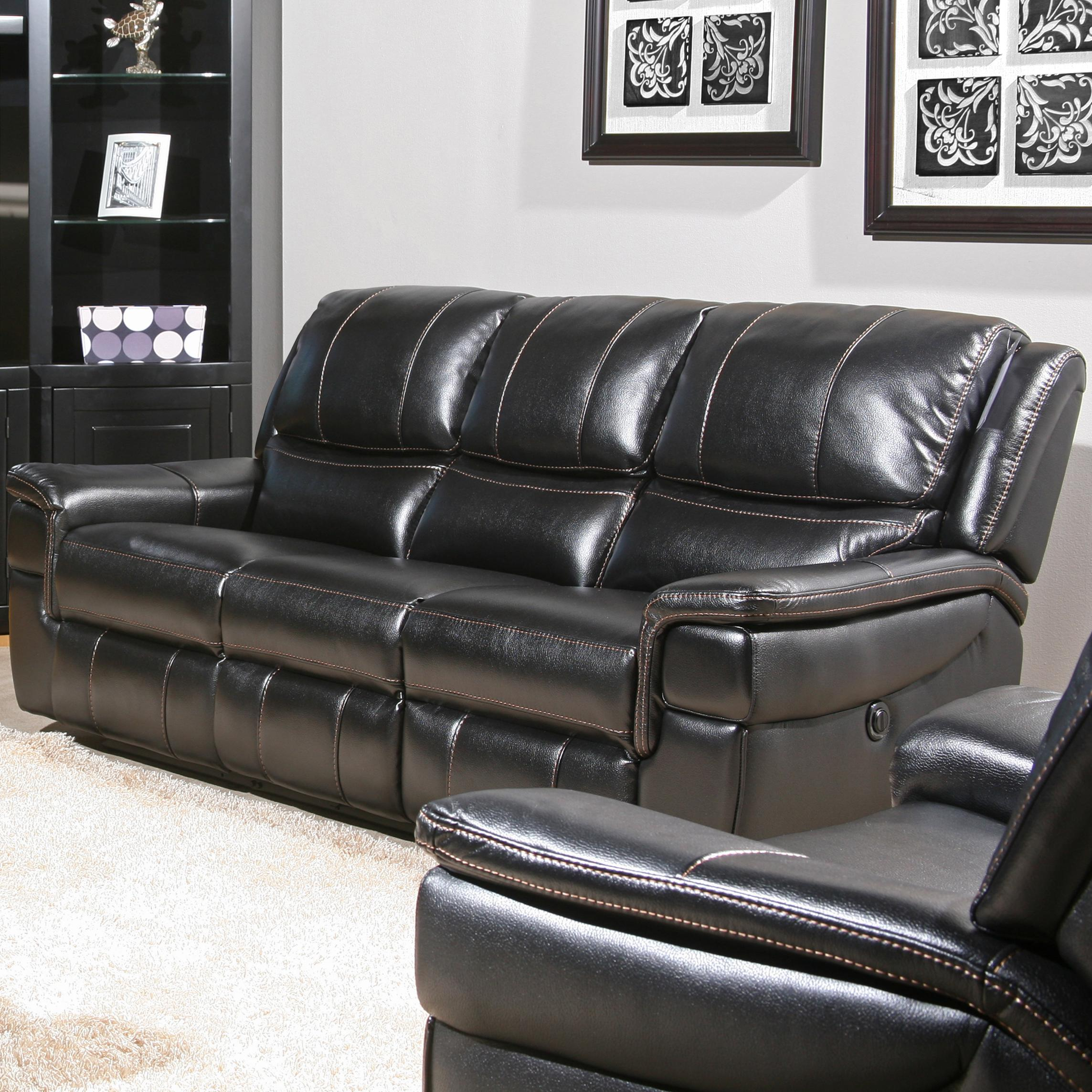Parker Living Python Casual Duel Power Reclining Sofa  - Item Number: MPYT-832P-Black