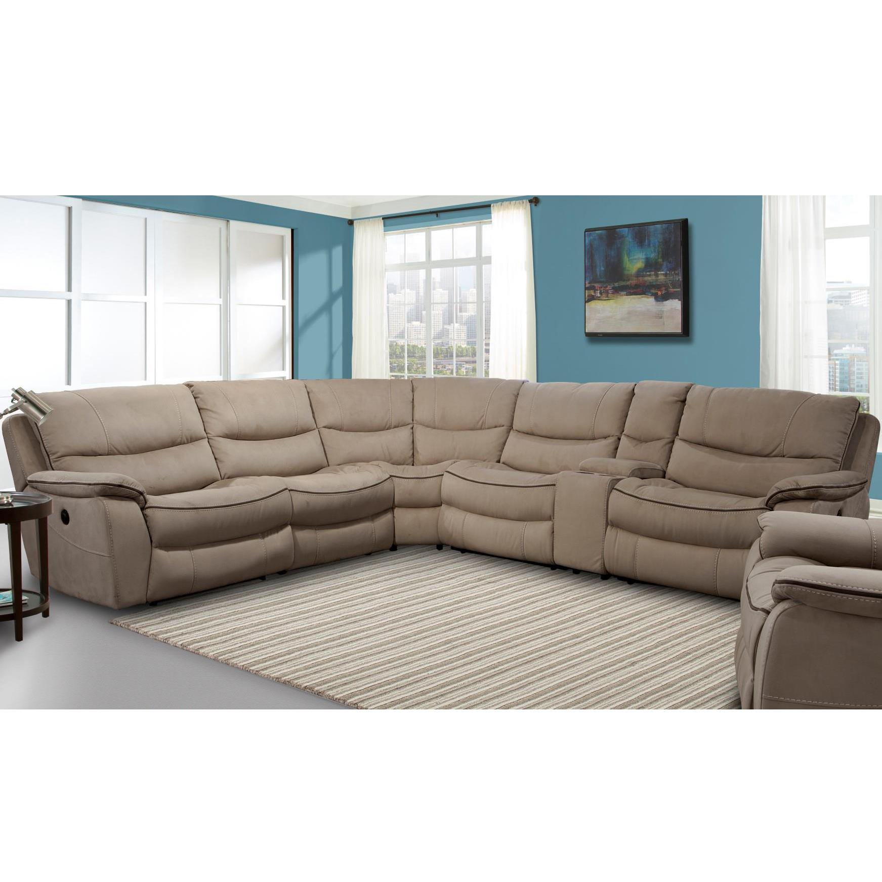 Parker Living Remus Casual Power Sectional Recliner - Item Number: MREM-PACKM-MO