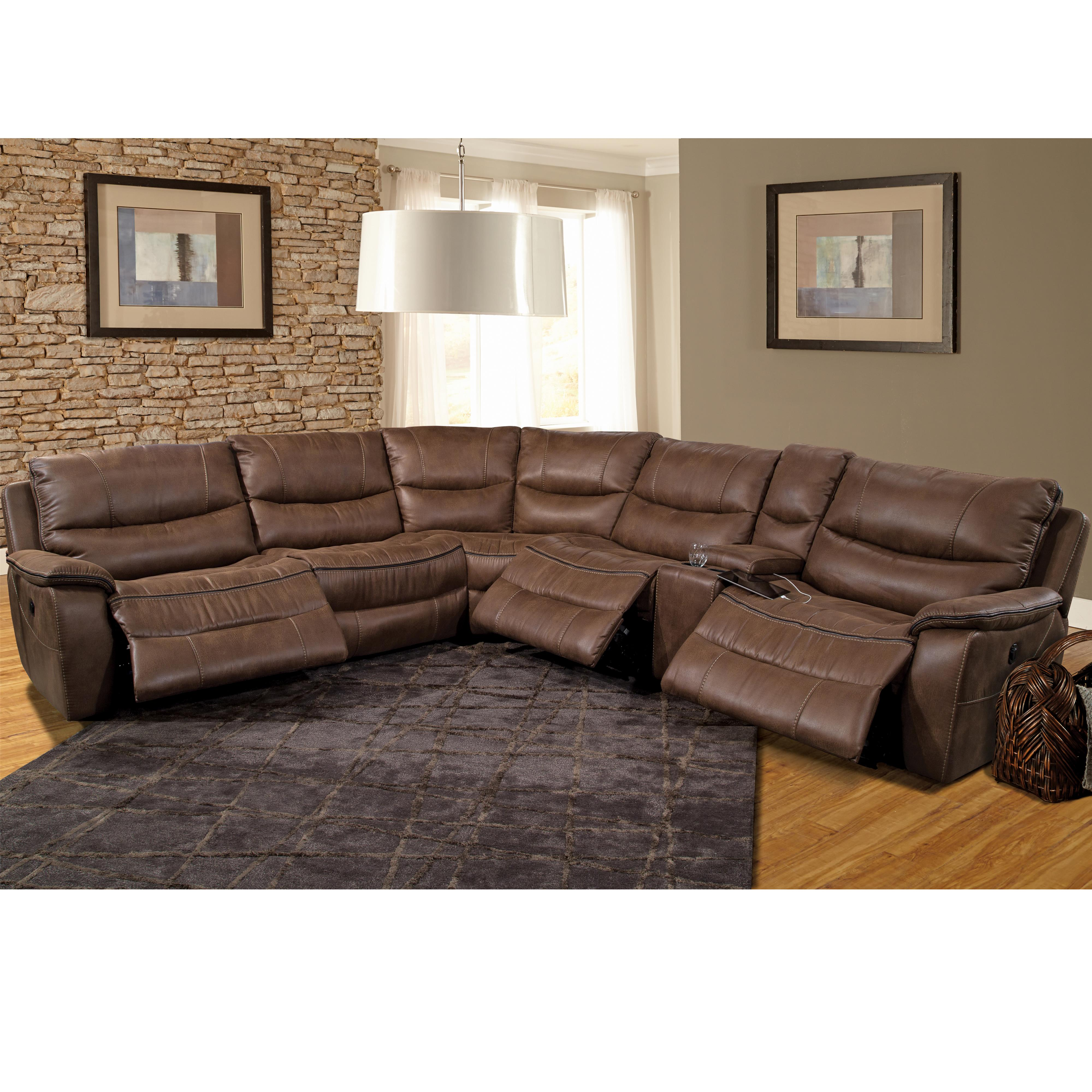 Parker Living Remus Casual Power Sectional Recliner - Item Number: MREM-PACKA-ST