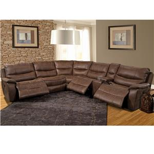 Parker Living Remus Casual Power Sectional Recliner