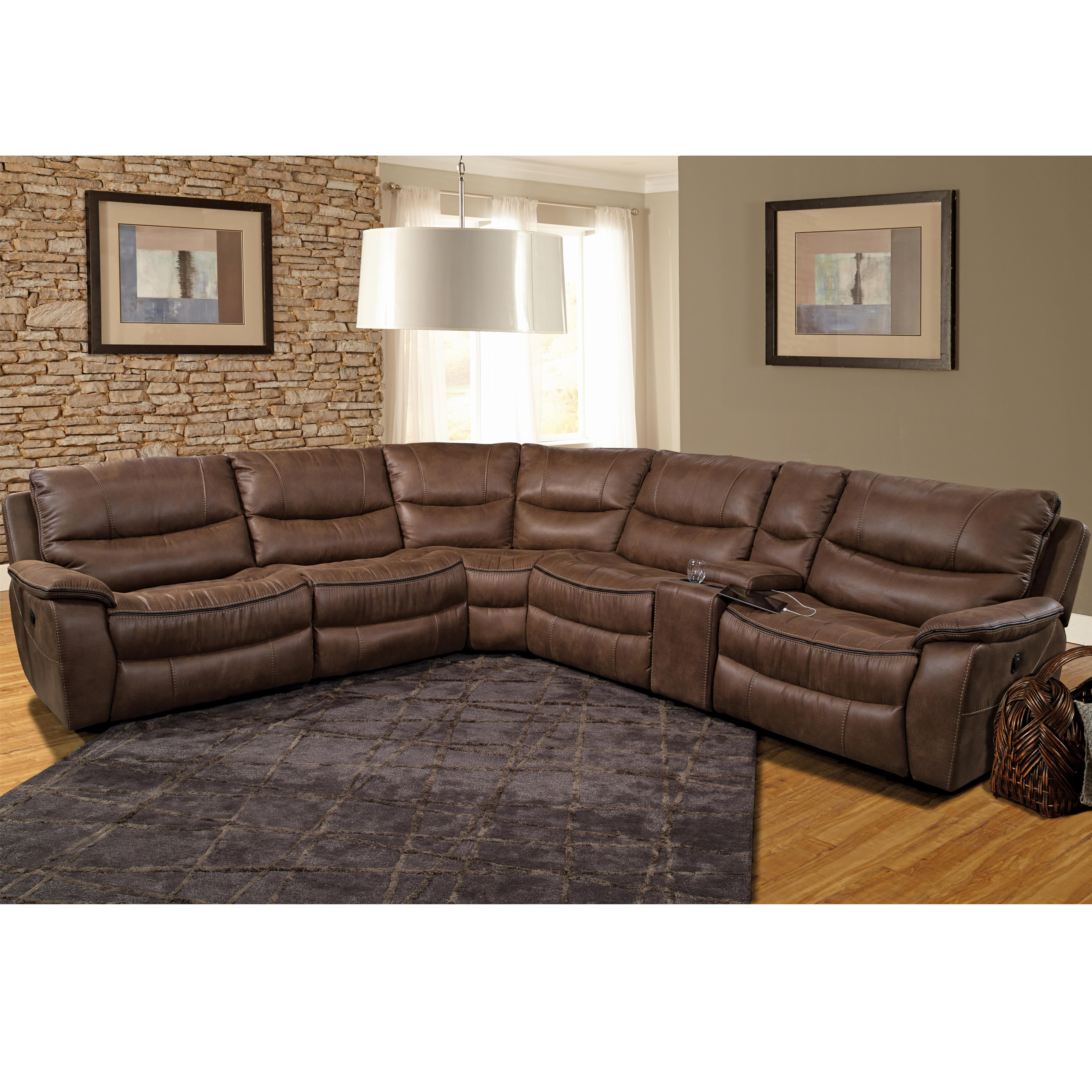 Parker Living Remus Casual Power Sectional Recliner - Item Number: MREM-PACKM-ST