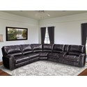 Parker Living Jerome Power Reclining Sectional Sofa - Item Number: MSAL-PACKA-TWI