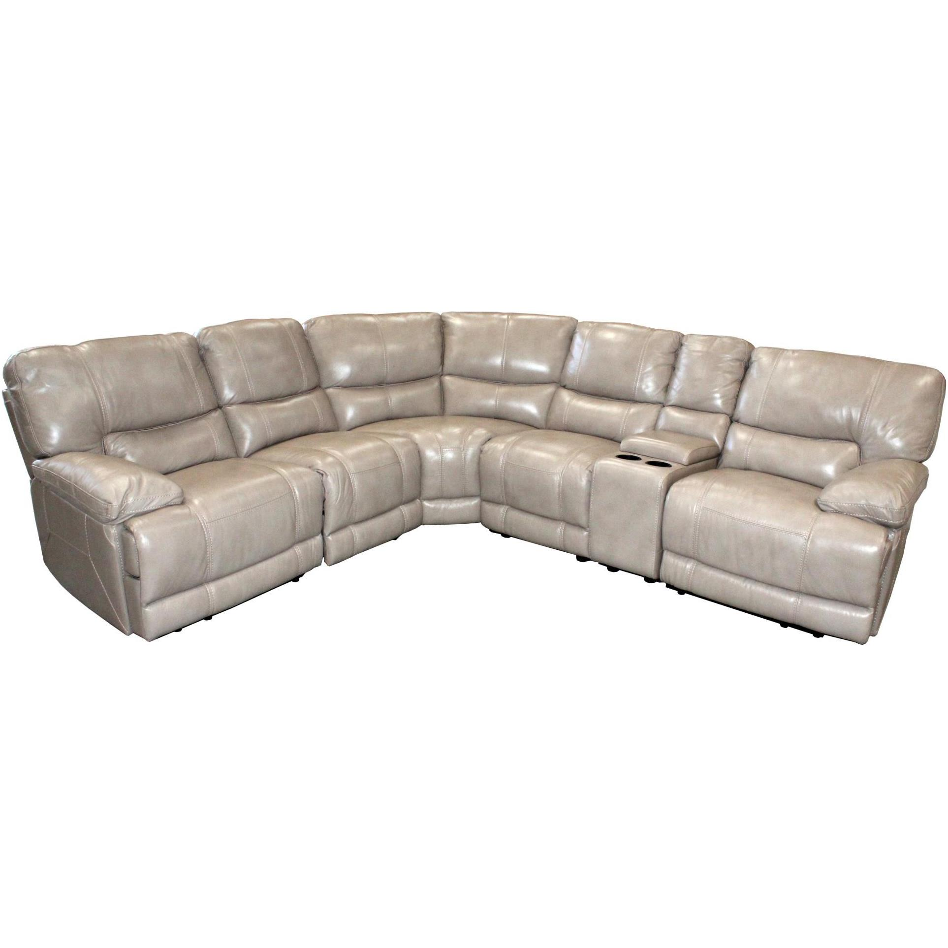 Parker Living Socrates Casual Sectional with Storage Console - Item Number: MS-811LP+860+810P+850+840+811RP-LA