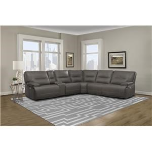 6 PC Power Sectional and Recliner Set