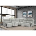 Paramount Living Spencer Power Reclining Sectional - Item Number: MSPE-PACKA-H-TPE