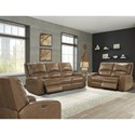 Paramount Living Swift Power Reclining Living Room Group - Item Number: MSWI Reclining Living Room Group 1