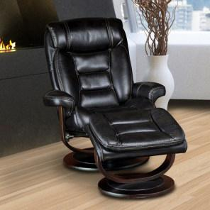 Parker Living Triton Swivel Recliner and Ottoman - Item Number: MTRI-212S-BK