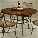 Pastel Minson Victoria 5 Piece Hammered Metal Table & Side Chair Set - Round Hammered Metal Table