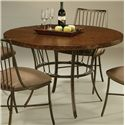 "Pastel Minson Victoria 45"" Round Hammered Metal Table - Item Number: VO-510+860"