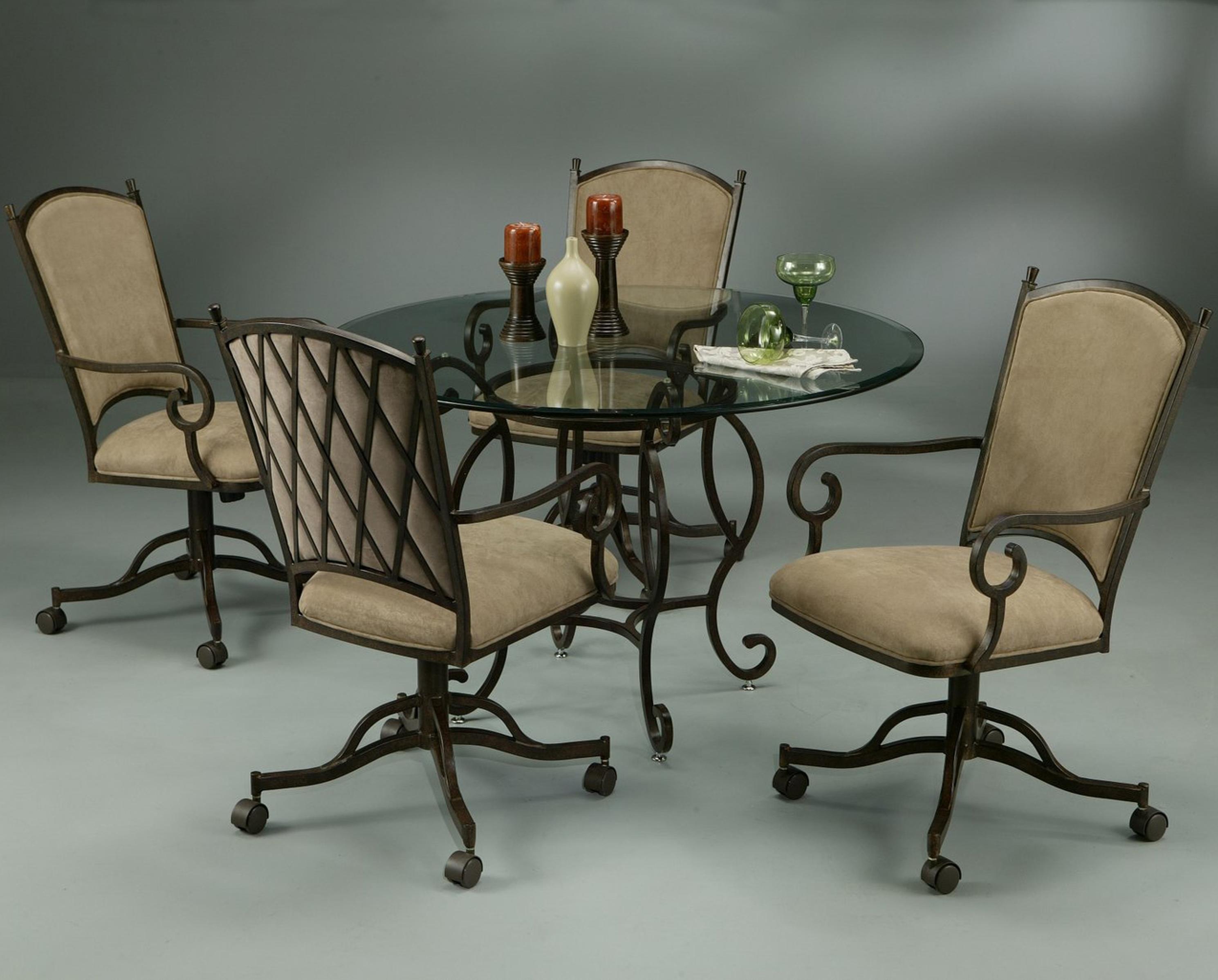 Pastel Minson Atrium Caster Dining Chair with Topanga ...