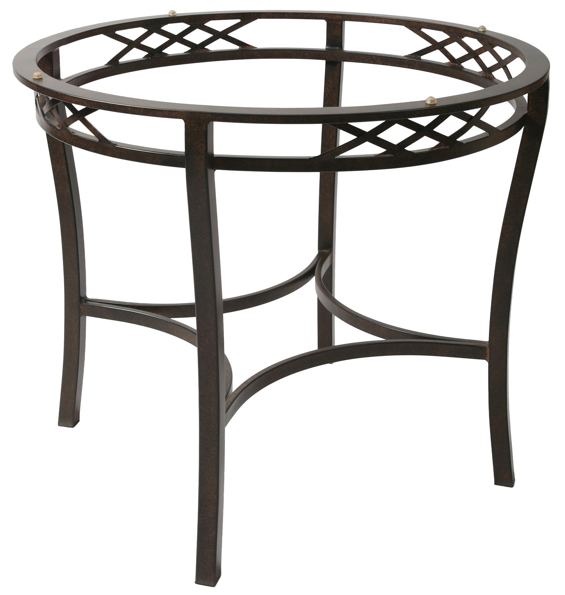 Pastel Minson Atrium Five Piece Metal & Wood Table with ...